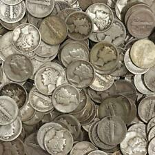 Roll of: Mercury Dimes 90% Silver Mixed Dates $5 Face Value