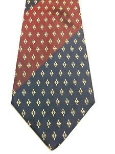 BANANA REPUBLIC MENS TIE NAVY BLUE, GREEN AND RED WITH GOLD  4 X 57