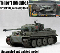 WWII German Tiger I tank middle sPzAbt 101 Normandy 1943 1/72 finish Easy model