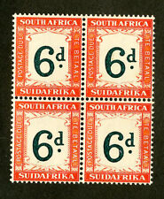 South Africa Stamps # J28 VF OG NH Block Of 4