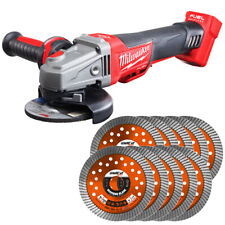 Milwaukee M18CAG115XPDB 18v Angle Grinder With 115mm 10 Extra Diamond Blades