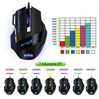 6800Dpi Led Optical Usb Wired Gaming Mouse 7 Buttons Gamer Laptop Computer Mice