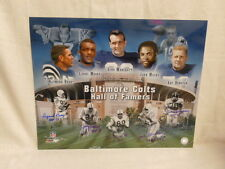 Baltimore Colts H O F 16 X 20 Signed by Berry Moore Donovan Mackey and Marchetti