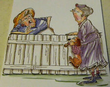 Granny & Dog 2pc (U get photo #2) L@@k@examples Art Impressions Rubber Stamps