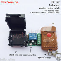 DC 12v 10A Relay 1CH wireless RF Remote Control Switch Transmitter+Receiver Case