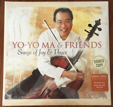 Yo-Yo Ma Songs Of Joy & Peace Vinyl Record 2xLP Sealed + Signed Print