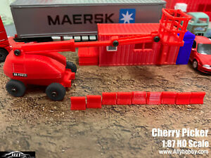 1:87 HO Scale - Cherry Picker for Farm toy Truck Site Construction scenery by AH