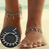 Silver Women Bead Anklet Chain Ankle Bracelet Barefoot Sandal Beach Foot Jewelry