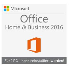 MS Office 2016 Home and Business für Mac / 1 PC / Neuinstallation möglich / ESD