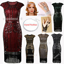 1920s Flapper Dress Ladies Great Gatsby Bracelet Sequin Tassel 30s Fancy Costume
