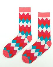 Mens Cotton Business Socks Crew Work Dress Socks Bright coloured Size 40-46