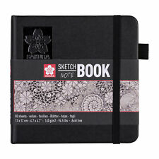 Sakura Sketch Note Book 80 Sheets Drawing Paper for Pen, Ink, Pencil 12 x 12cm