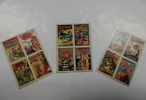 1969 1970 Topps DC Comics Stickers Batman Superman Teen Titans