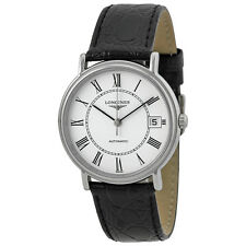 Longines Presence White Dial Automatic Leather Ladies Watch L4.821.4.11.2