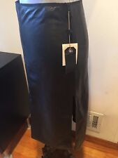 NEW RAG AND BONE LEATHER WILLOW MID LENGTH PENCIL SKIRT SIZE 00