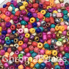 50g Cristal Semilla Cuentas Brillante Opaco Mix - 4mm Aprox (tamaño 6/0) Multicolor Mix