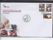 Turkey 2015 Fire Brigade First day Cover FDC Ankara pictorial h/s