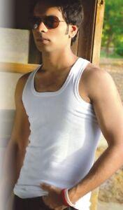 SOFTY® Mens Vest Gym  Rib Sleeveless Tee Small to 10XL ORIGINAL RIB Cotton LOT