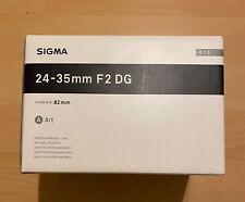 Sigma 24-35mm f2 DG HSM Art Lens - Sigma SA Fit mint condition