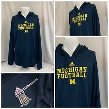 Michigan Wolverines Hoodie Sweatshirt 2XL Blue Adidas 100% Poly LNWOT YGI N0-252