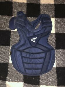 """Easton Adult Age 16+ Catcher Chest Protector Black 17"""" Guard Baseball Navy Blue"""