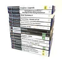 PS2 14 Game Bundle (Sony Playstation 2, PS2) Singstar Goldeneye SpongeBob EUC