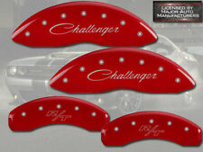 """2016-20 Dodge """"Challenger R/T"""" Scat Pack Front Rear Red MGP Brake Caliper Covers"""