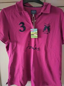 BNWT JOULES WOMENS POLO SHIRT RUBY SIZE 18