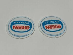 Lot 2 Nestle Ice Cream Flintstones Cartoon POG Hawaii  Milk Cap