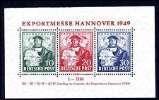 Bizone Mi. Bl. 1a**, Hannovermesse-Block, postfrisch, Luxus (140,-€) (12713/34)