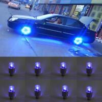 8Pcs LED Car Wheel Tyre Tire Shock Sense Valve Stem Cap Light Lamp Bulb BA