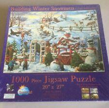 "New Puzzle ""Building Winter Snowmen"" Tom Antonishak Suns Out"