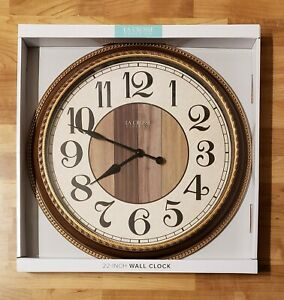 """New Large LaCrosse Clock Co. 22"""" Wall Clock in Box"""