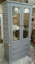 HAND MADE AYLESBURY 3 DRAWER DUBBLE MIRROR  WARDROBE**FULLY ASSEMBLED**