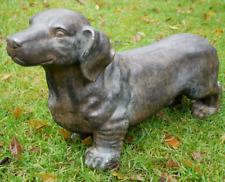 More details for sausage dog statue dachshund sculpture garden ornament figurine outdoor animal