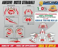 Adesivi Stickers kit LUCKY STRIKE sagomati SUZUKI GSX-R 750 K8 K9 L0 Decals
