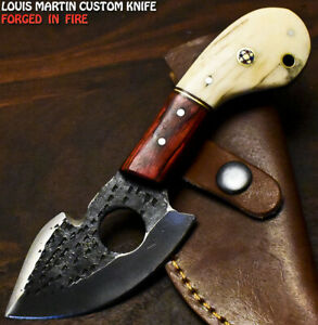Louis Martin Custom Handmade D2 Tool Steel Camel Bone Hunting Skinner Knife