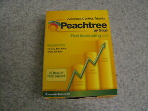 Peachtree By Sage FIRST Accounting 2009 Software - OPEN BOX (446)