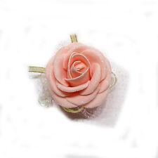 Bridal Bridesmaid Artificial Flower Rose Wrist Corsage Bracelet Wedding Party