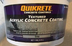 Quikrete 8730-06 Non-Slip Acrylic Concrete Coating, 1 Gallon Bucket