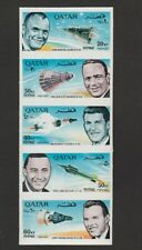 QATAR 1966 ASTRONAUT STAMPS IN MNH IMPERFORATE VERTICAL STRIP