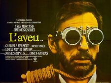 CONFESSION (L'AVEU) 1970 Yves Montand, Simone Signoret UK QUAD POSTER