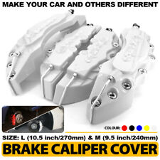 """3D Brake Caliper Covers Style Disc Universal Car Front Rear 4Pc Silver 10.5"""" CY2"""