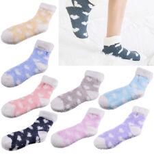 8 Paar Damen Flauschige Süße Winter Socken Bettsocken Bunte Herz Kuschelsocken