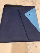 NIKE VINTAGE Mead 3-Ring Zipper Binder, Navy Blue Light, Includes (2) Folders