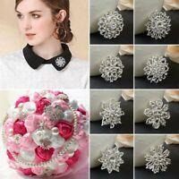 Charm Shine Rhinestone Crystal Brooch Pin Women Wedding Bridal DIY Bouquet Gifts