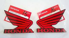 Honda Wing Fuel Tank Decal Wings Sticker 2 x 85mm RED & BLACK 100% GENUINE