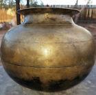Extraordinary! HEAVY India Rice Pot Cooker Cast Bronze Antique Patina Primitive