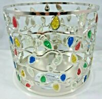 Bath & Body Works 14.5 oz 3-wick Large Candle Holder Glitter Christmas Lights