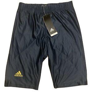 Adidas Mi Team Mens Short Running Tights Shorts Sz M Medium D80034 Navy